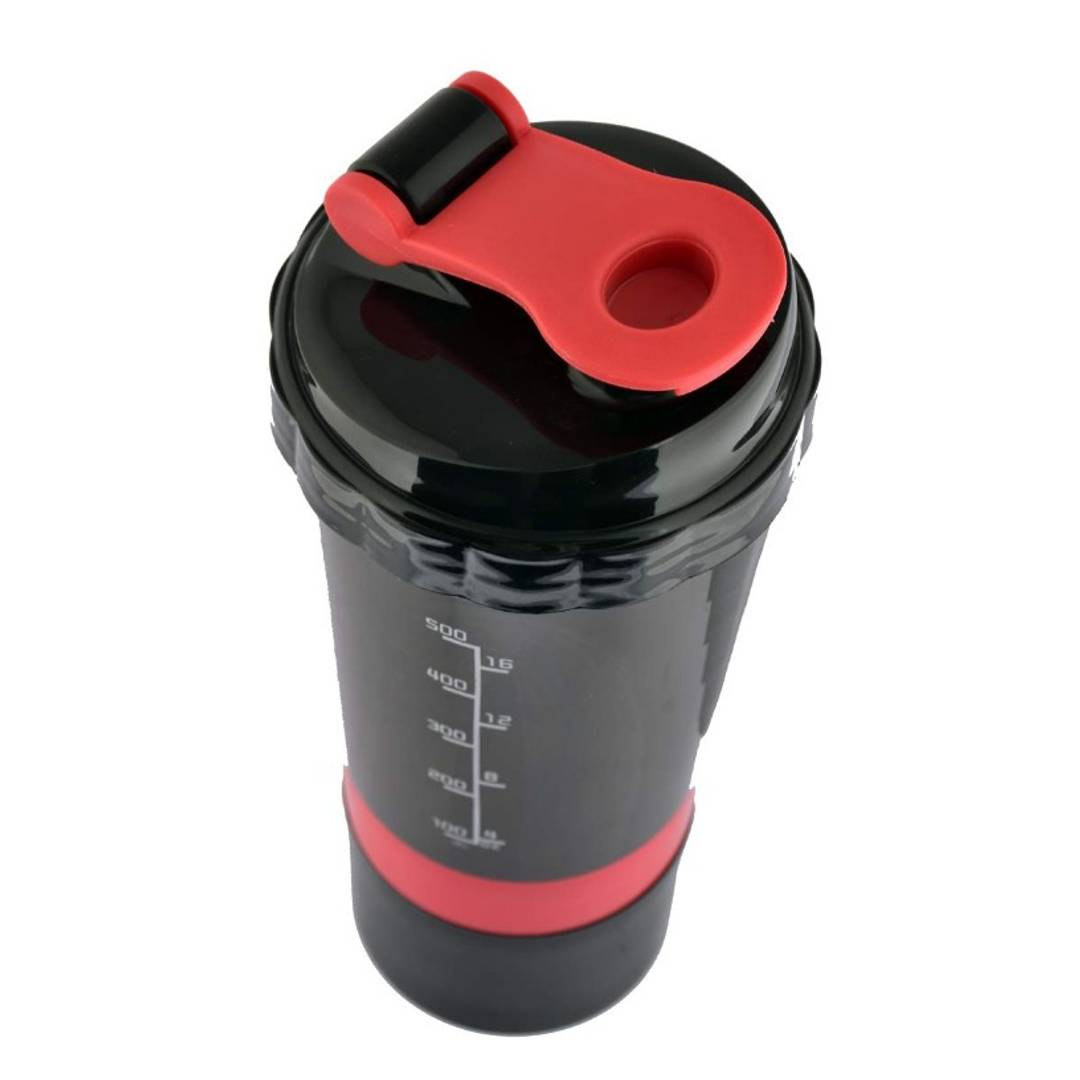 Spider Protein Shaker Gym Shaker | Cyclone Shaker Gym Bottle | Bpa Free 500ml (Red)