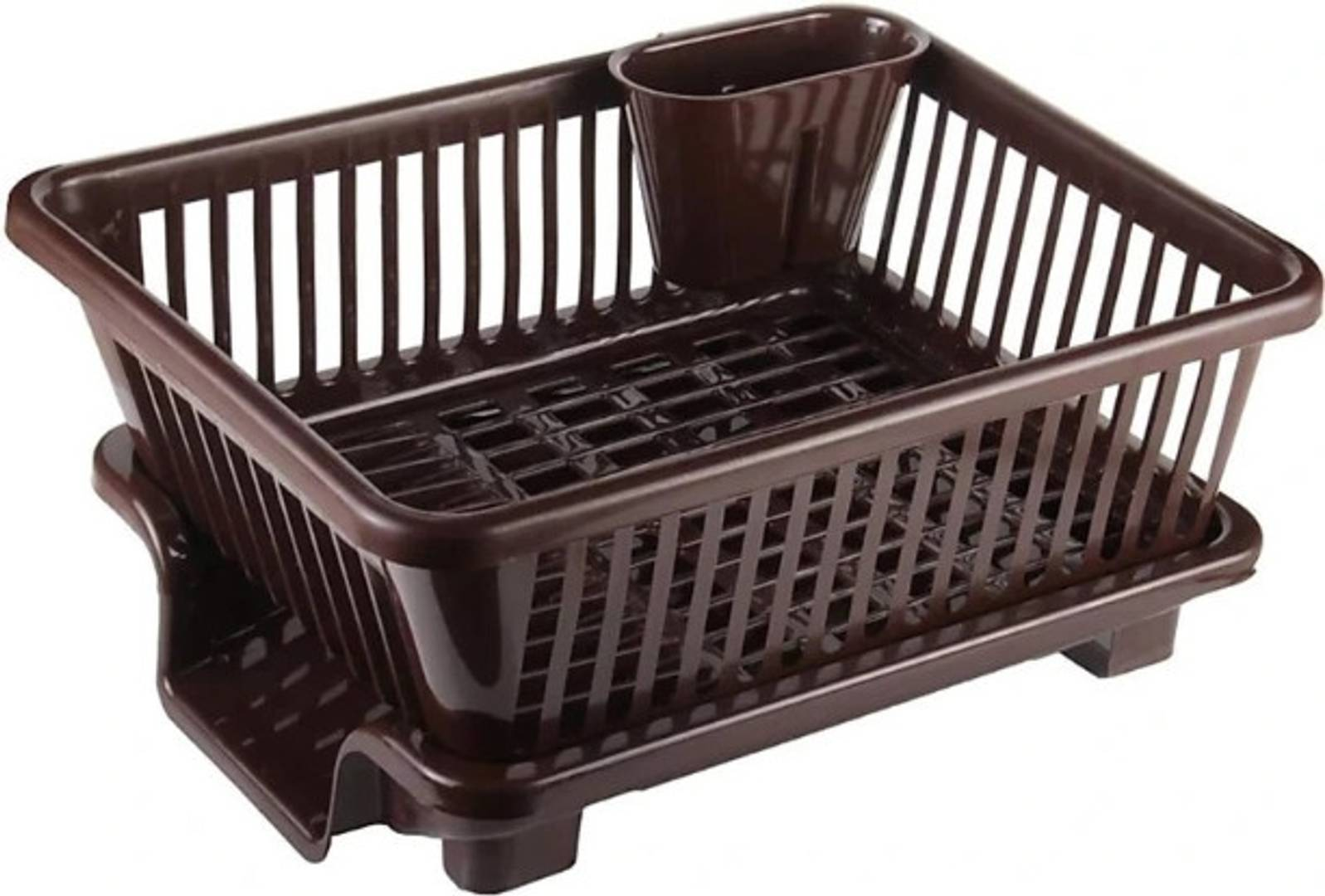 3 in 1 Large Durable Plastic Kitchen Sink Dish Rack Drainer Drying Rack Washing Basket with Tray for Kitchen, Dish Rack Organizers, Utensils Tools Cutlery(multicolor)
