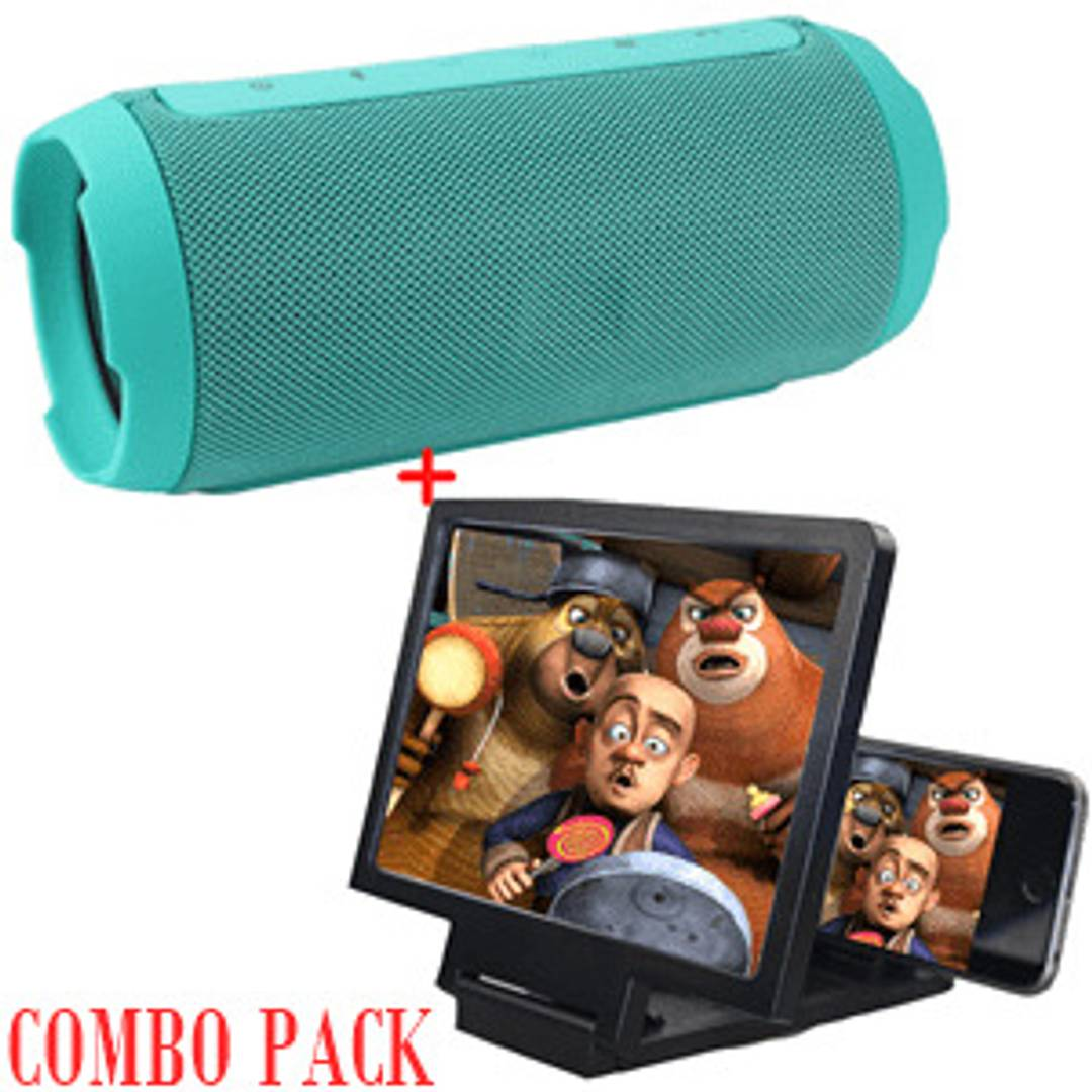 Special Offer Combo Of Bluetooth Speaker & 3D Screen Magnifier