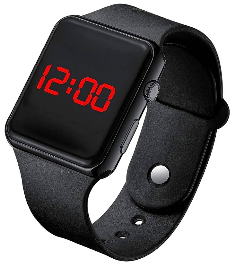 GITHA Digital square Led Watch Band Type black Color Girls and Boys Watches