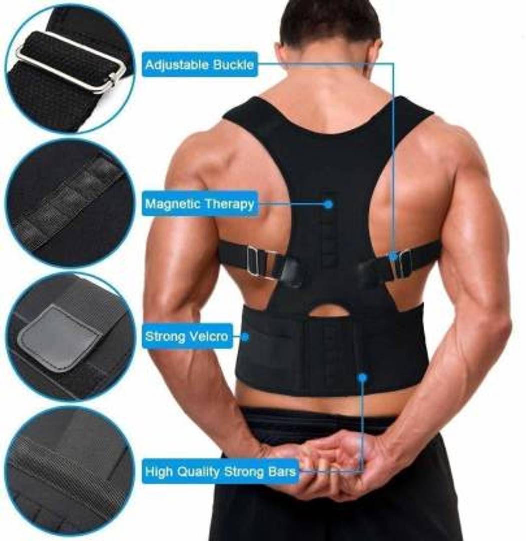 Real Doctors Plus Posture Support Brace Belt Back Back Support (Free Size)