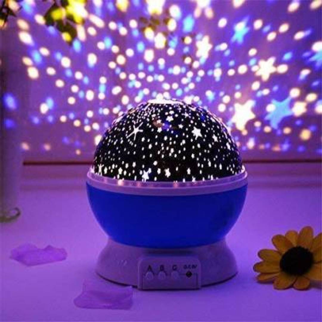 Dream Color Changing Rotating Projection Star Master Lamp Night Lamp  (14 cm, Multicolor)