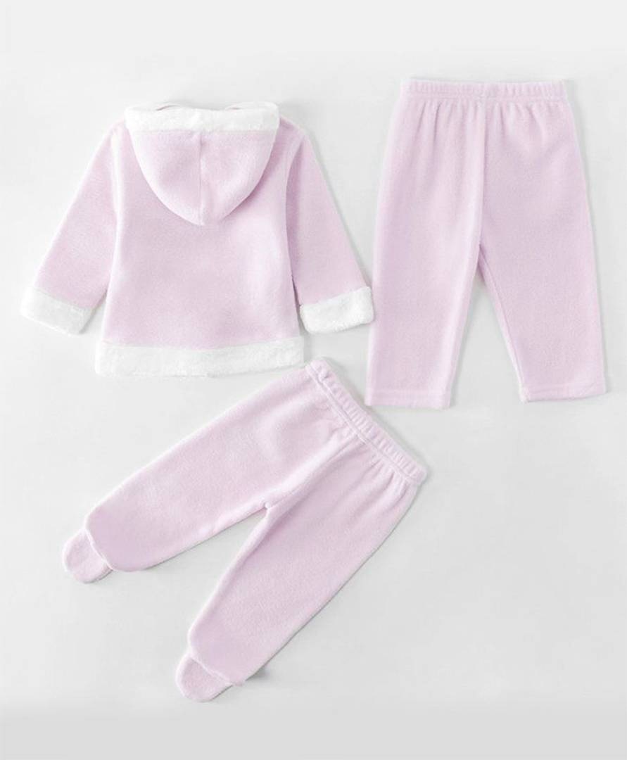 Kids Full Sleeves Winter Wear Jacket with Lounge Pant with Bootie Leggings