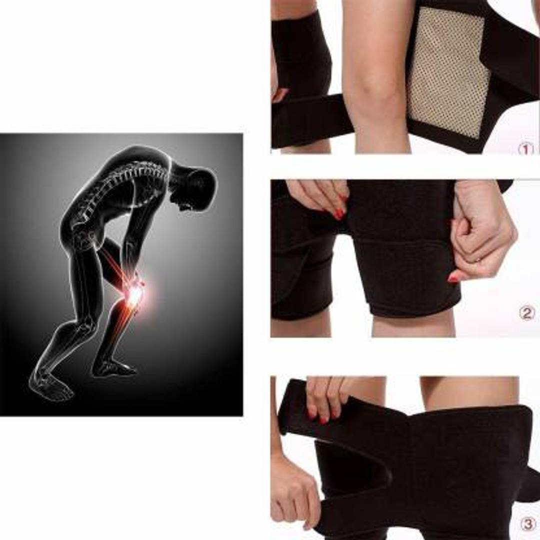 Self Magnetic Therapy Heating Knee Support Pad Belt Knee Support