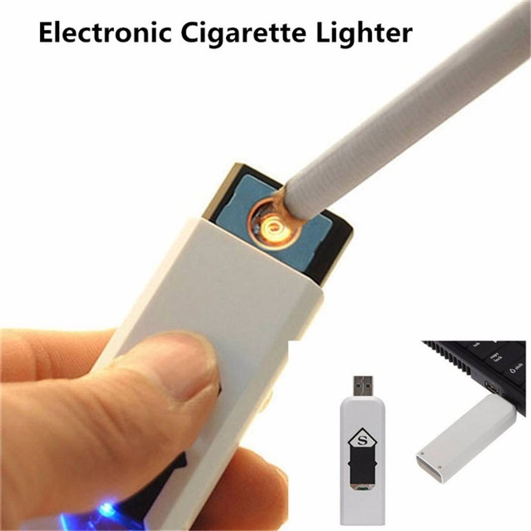 Electronic Usb Cigar Cigarette Lighter Windproof Rechargeable Flameless Lighter