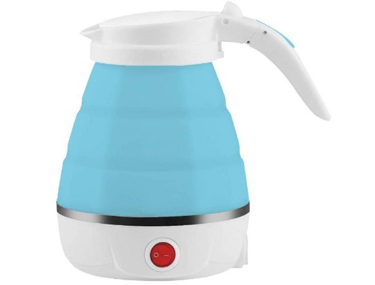 Foldable Electric Kettle,Travel Portable Kettle with Foldable Silicone Electric, 600ml Insulation Heating Boiler Tea Pot for Camping