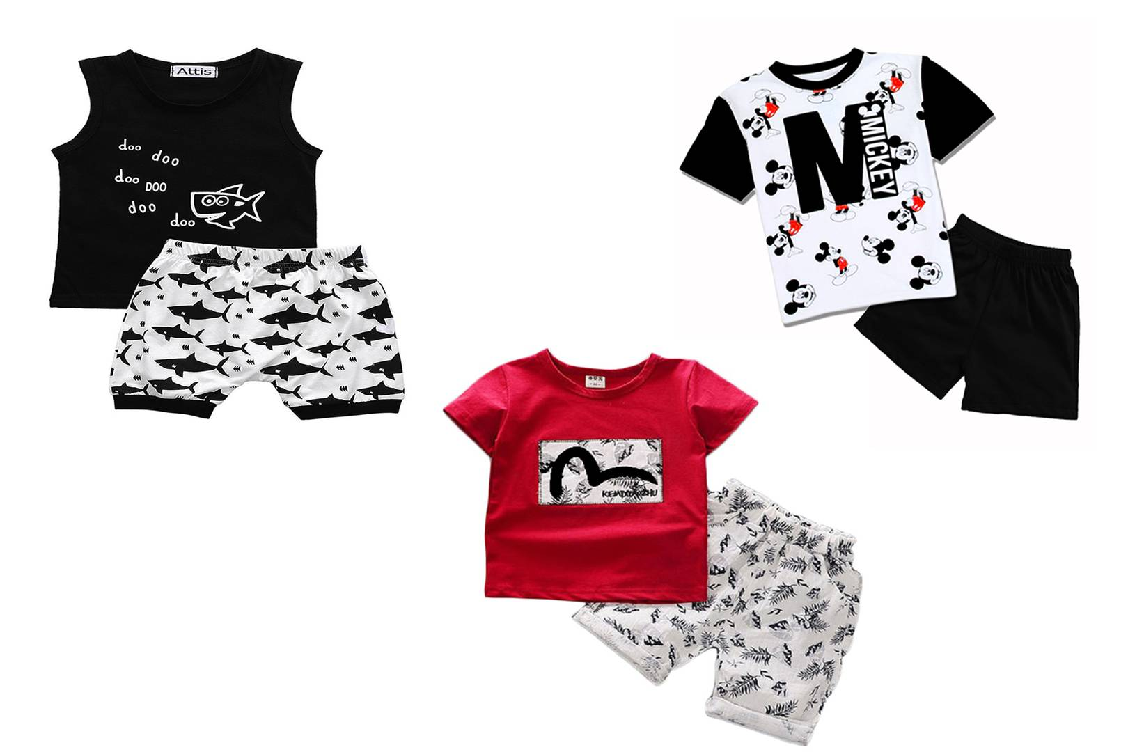 Kid's Cotton Clothing Set Combo Of 3