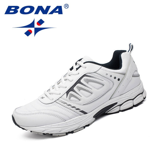 BONA Men Running Shoes | Outdoor Jogging, Trekking sneakers Lace Up Athletic Shoes