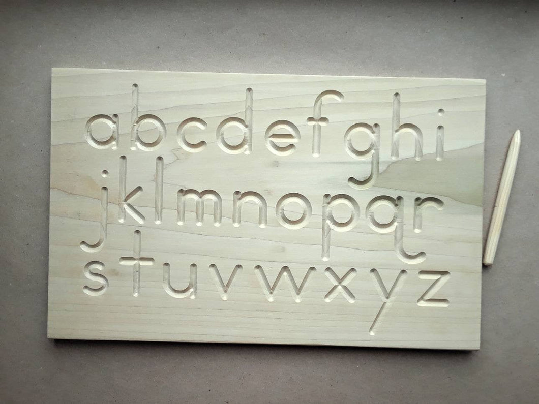 Alphabet tracing boards, tracing boards, pre-writing boards, Montessori materials, wooden boards