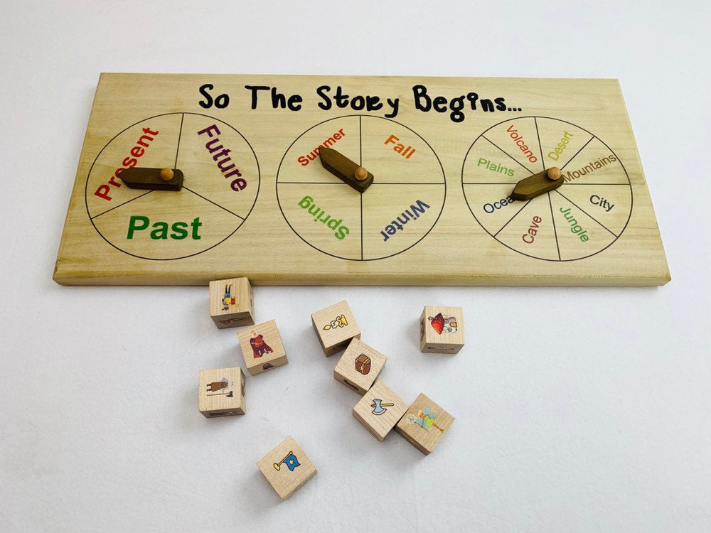 Story telling set, Creative writing kit, Story Starter, Fairy Tale set, Story Dice, open ended story, co op game, cooperative game