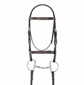 Camelot Gold™ Fancy Stitched Raised Padded Bridle with Laced Reins