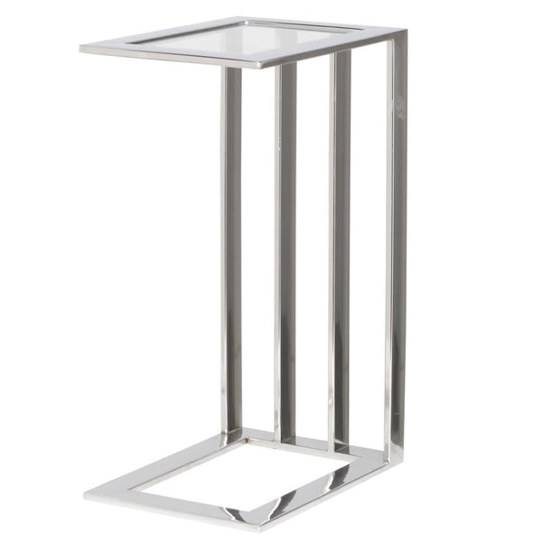 Steel Table with Glass Top