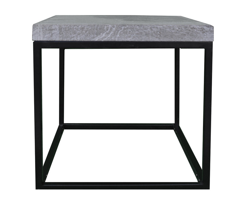 Greywell Side Table with Metal Frame