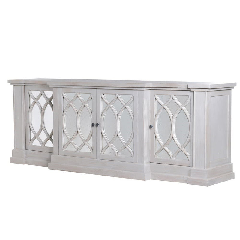 Breakfront Sideboard Light Grey