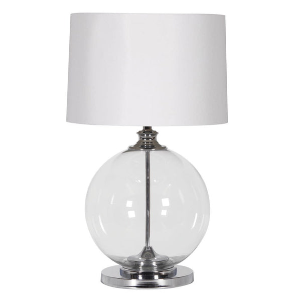 Glass Silver Ball Lamp