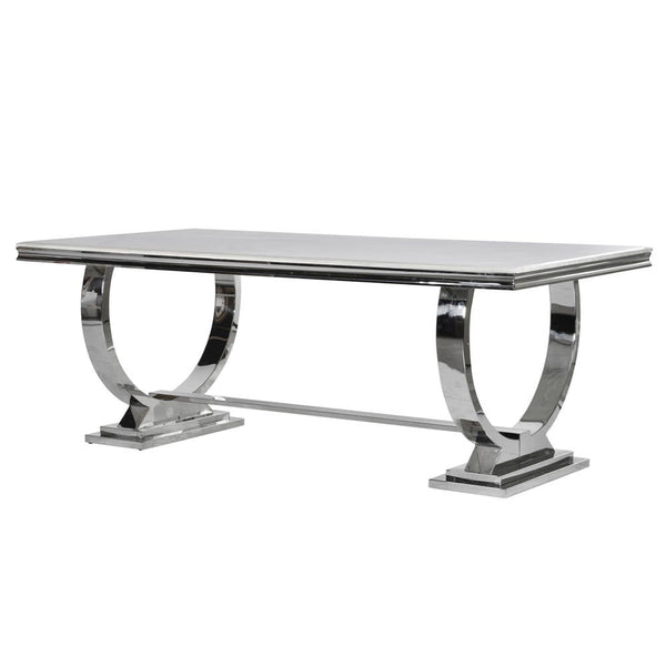 Steel & Marble Dining Table