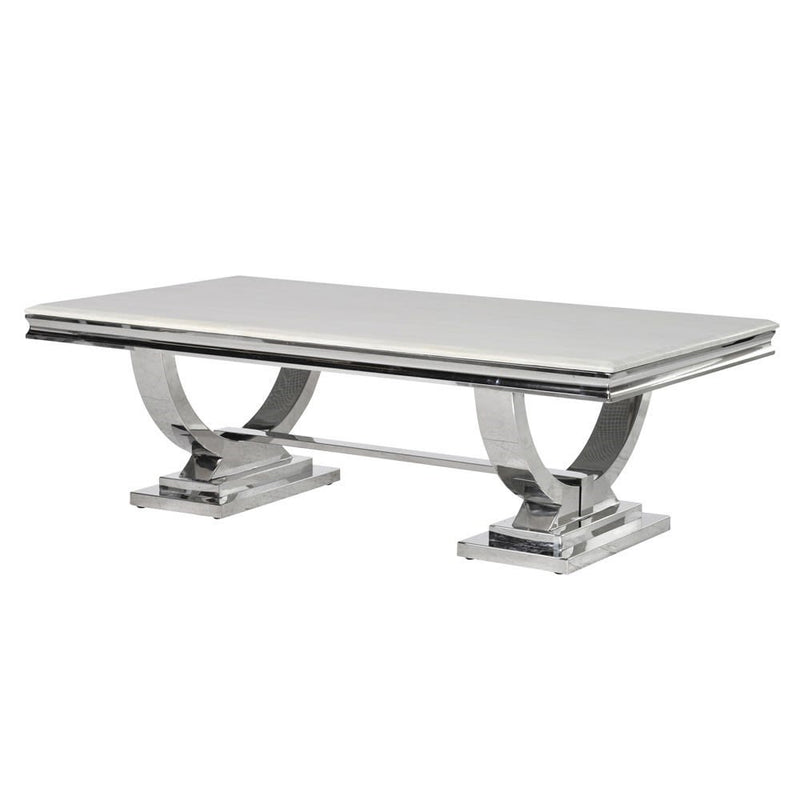 Steel & Marble Coffee Table