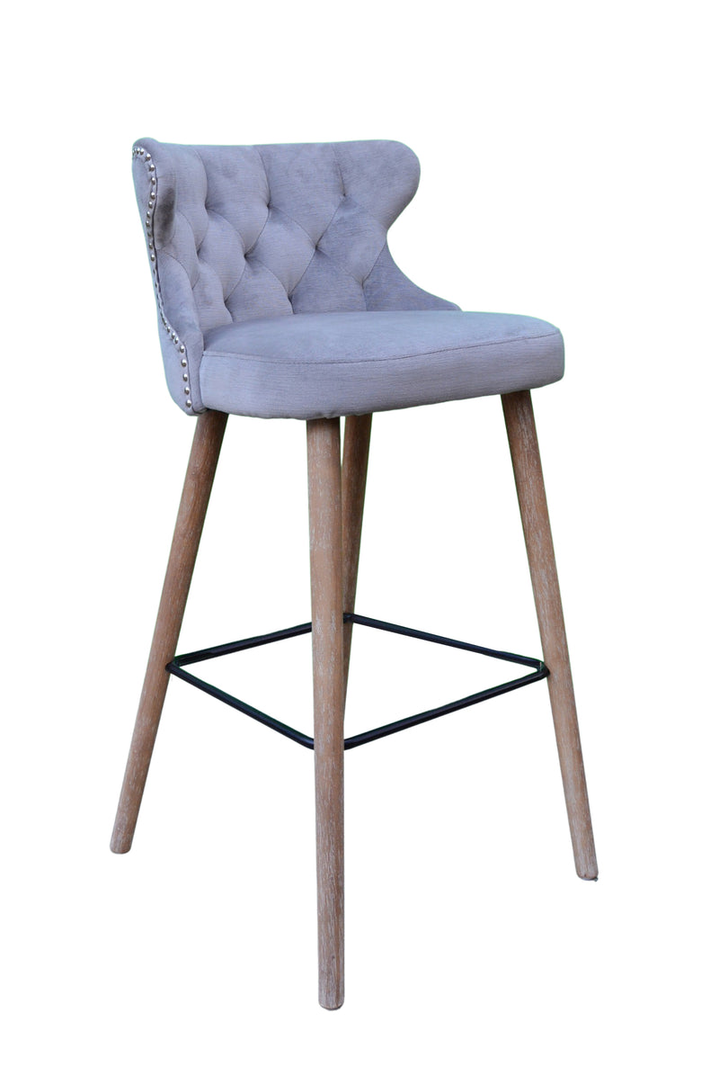 Pavilion Curved Button Bar Stool
