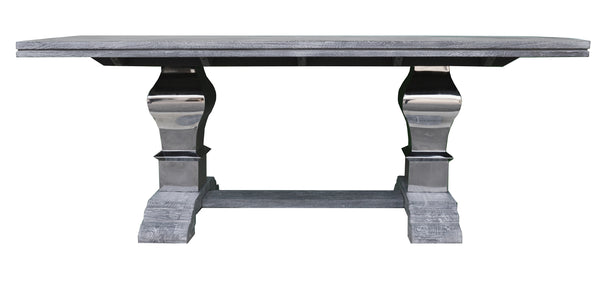Greywell Silver Pedestal Table