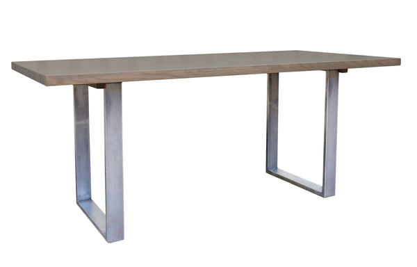 Chatsworth Fixed Top Dining Table with Metal Base