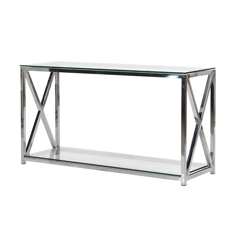 Argento X End Console Table