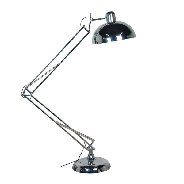 Chrome Floor Angle Lamp