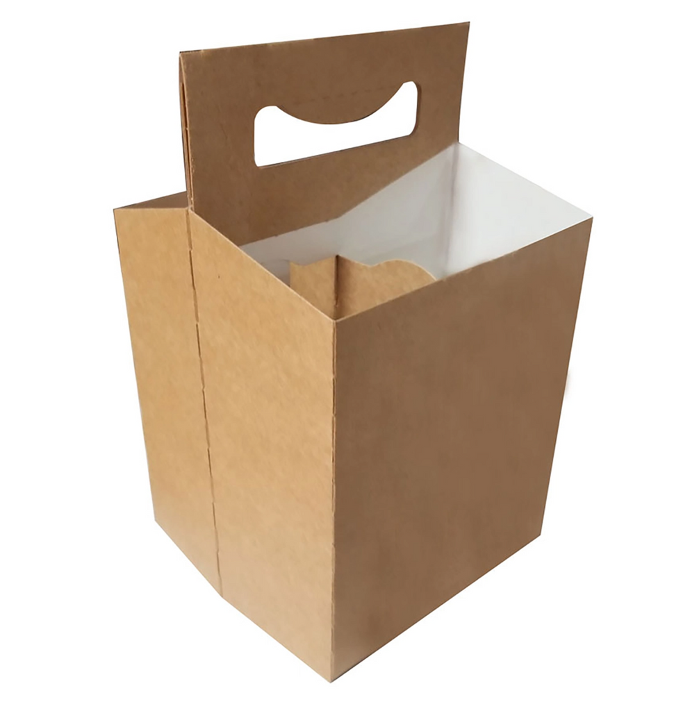C-Store Packaging | 4-Pack Kraft  Cardboard Carrier