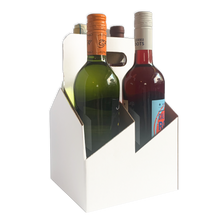 Load image into Gallery viewer,  C-Store Packaging | 4-Pack Wine/Liquor Cardboard Bottle Carrier