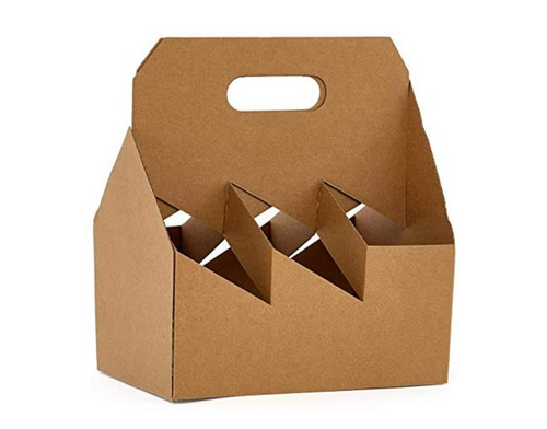 C-Store Packaging | 6-Pack Kraft Cardboard Carrier