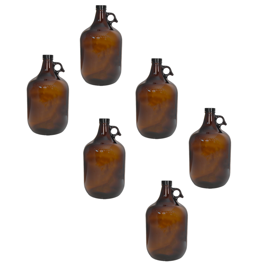 C-Store - 1 Gallon  Amber Glass Growler, glass jug