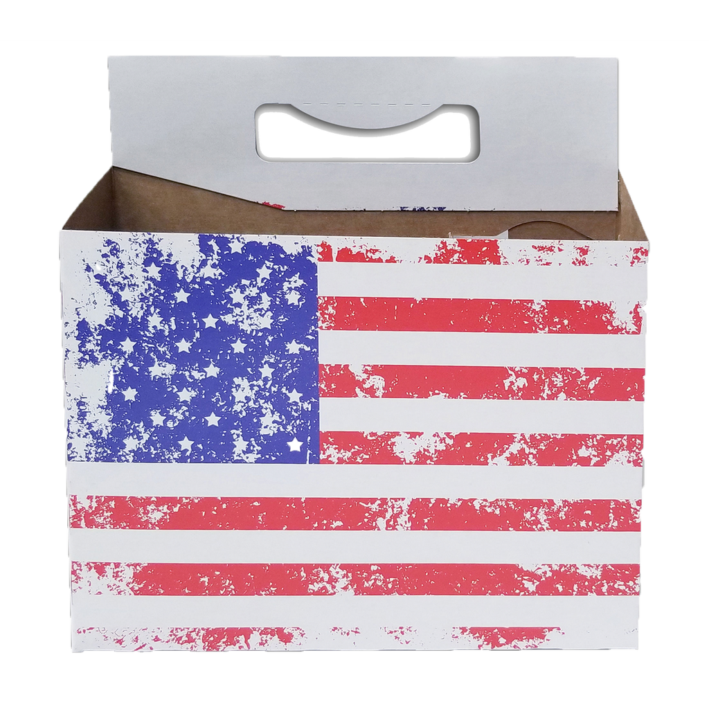 C-Store Packaging - American Flag Cardboard  Carrier