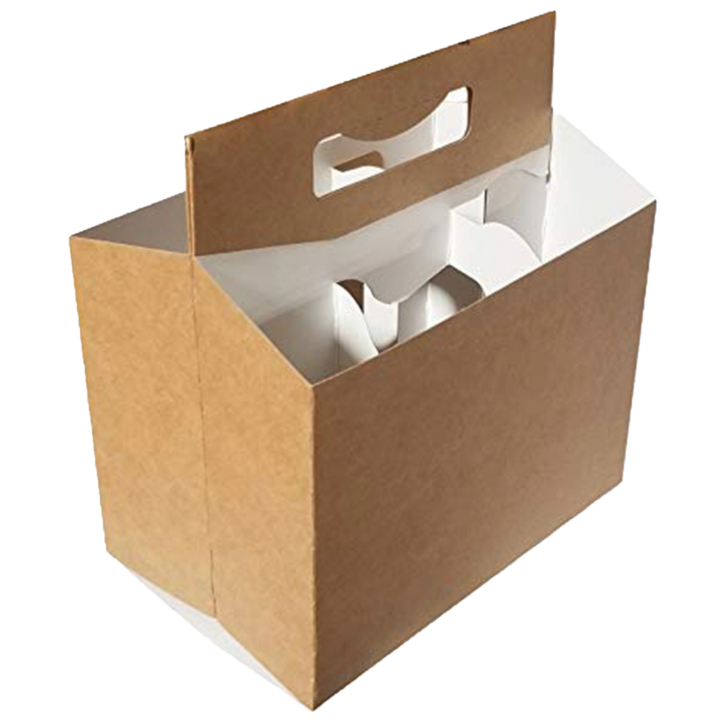 C-Store Packaging | Kraft 6 Pack Cardboard Carriers