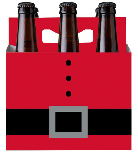 C-Store Packaging | 6-Pack Mix 6ix Santa Cardboard Carrier
