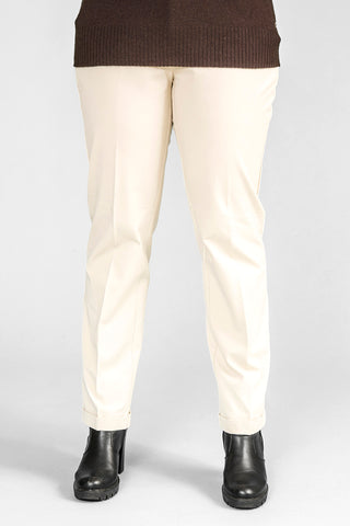 Pennyblack - Pantalone in cotone bi-stretch color avorio