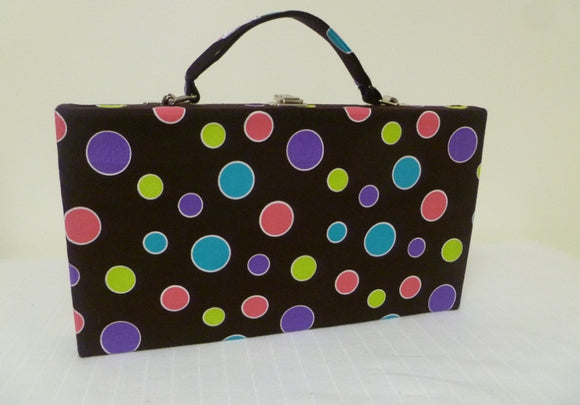 Brown Purple Dot Large Case