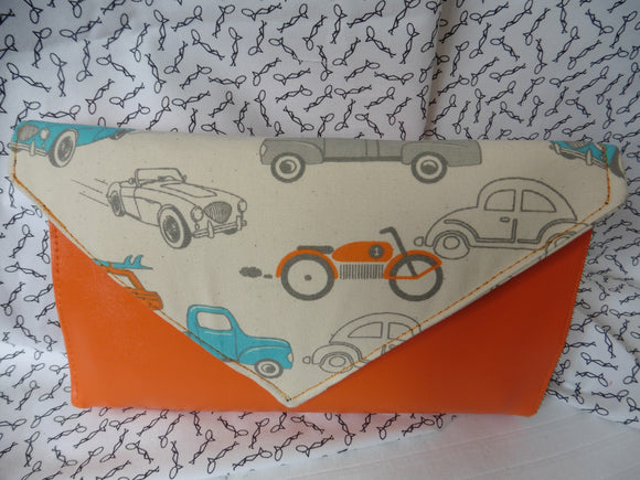 Orange Vintage Car Clutch Palette