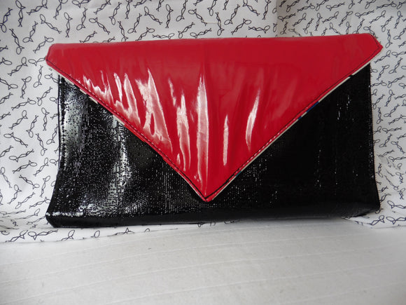 Red and Black Patent Clutch Palette