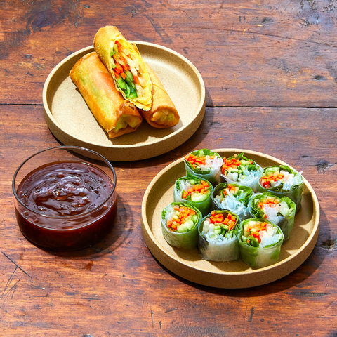 Spring rolls with a side of 'nade