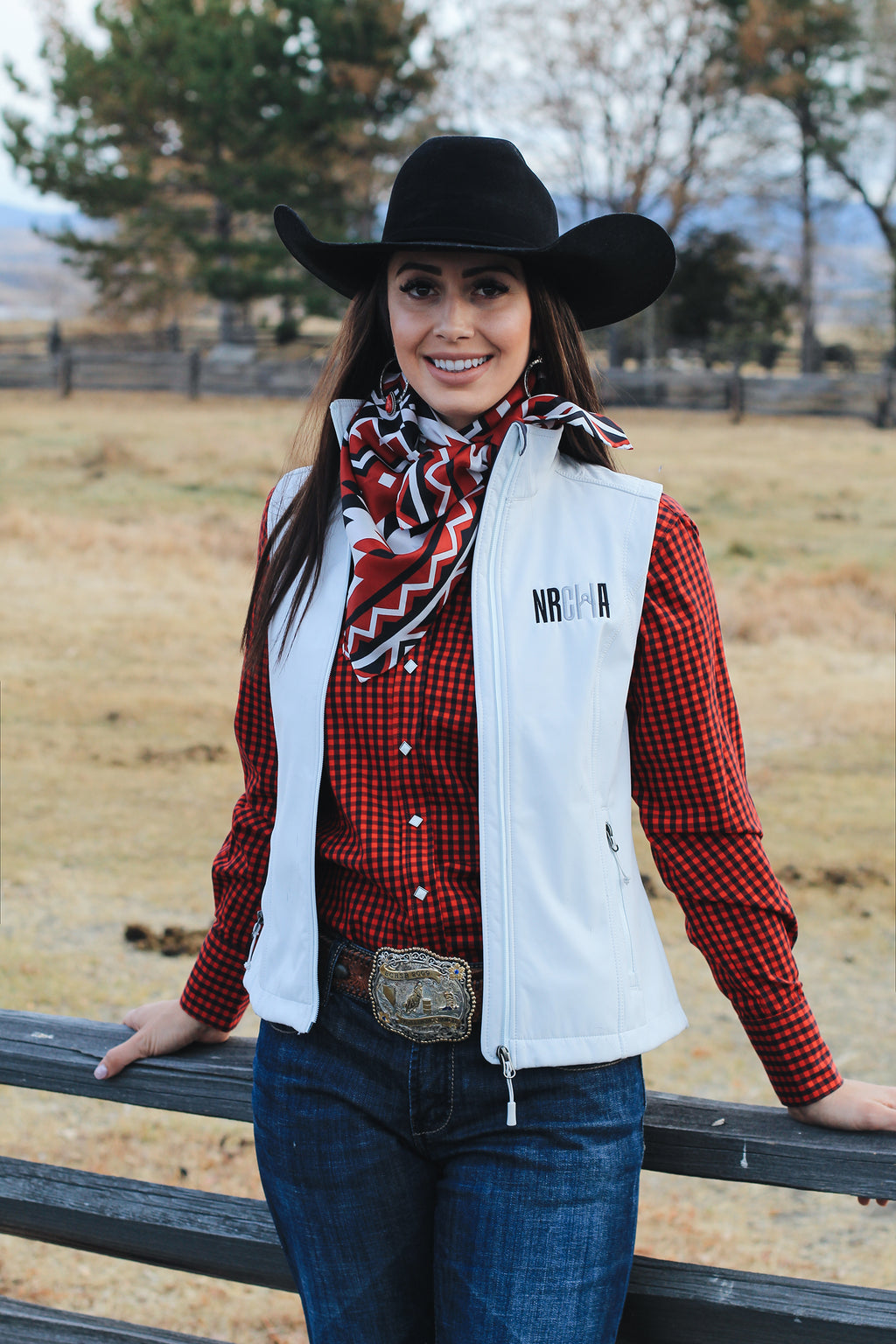 Women's NRCHA Logo Signature Series White Vest