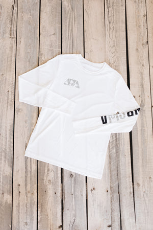 Unisex NRCHA Logo Posi-UV White Long Sleeve Tee