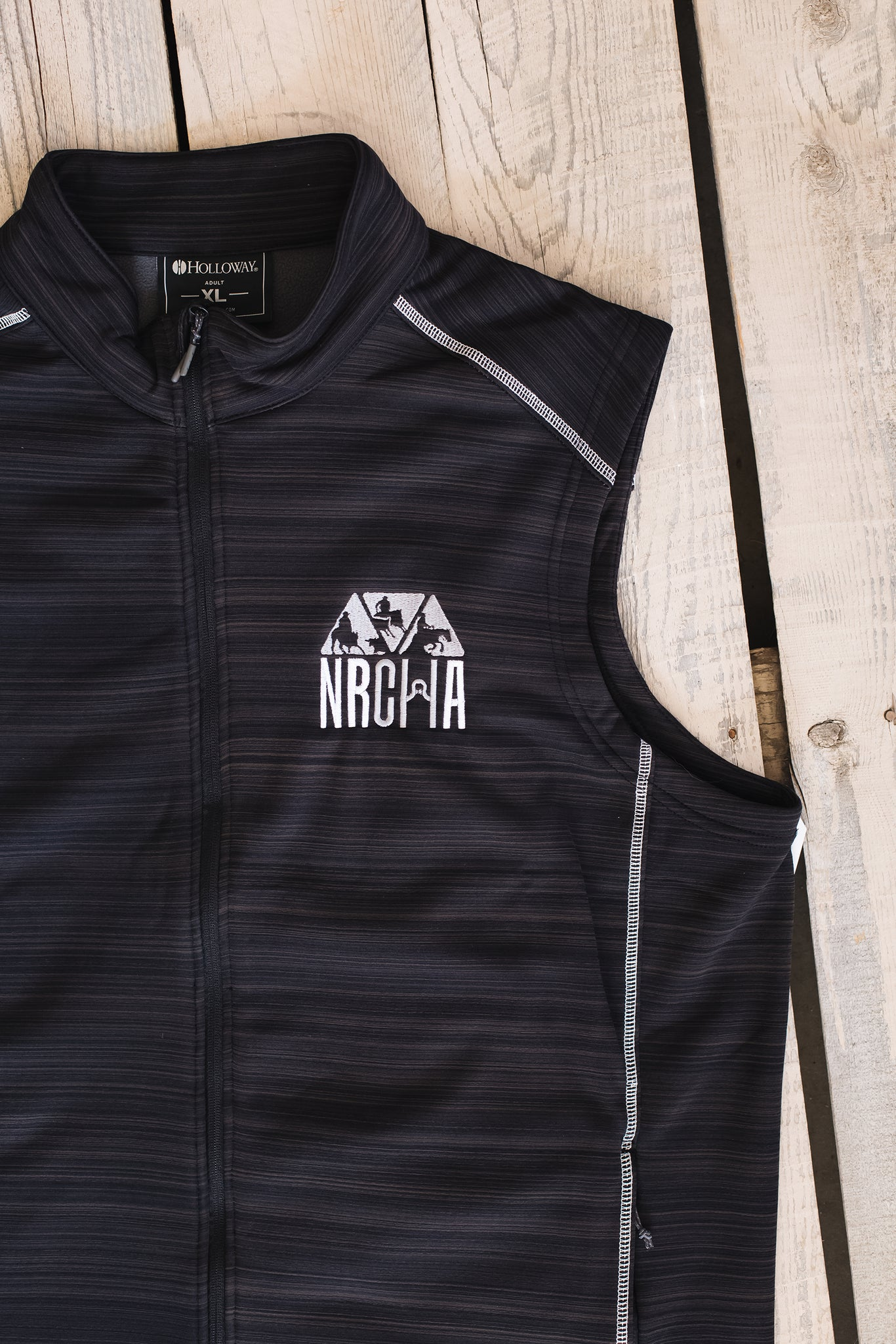 Men's NRCHA Logo Grey Knit Vest