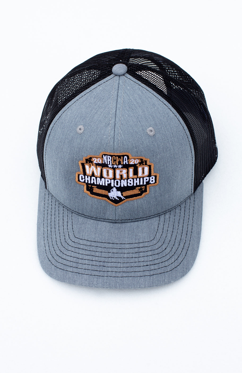 NRCHA World Show 2020 Grey and Black Mesh Hat