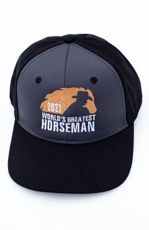 NRCHA World's Greatest Horseman 2021 Grey and Black Hat