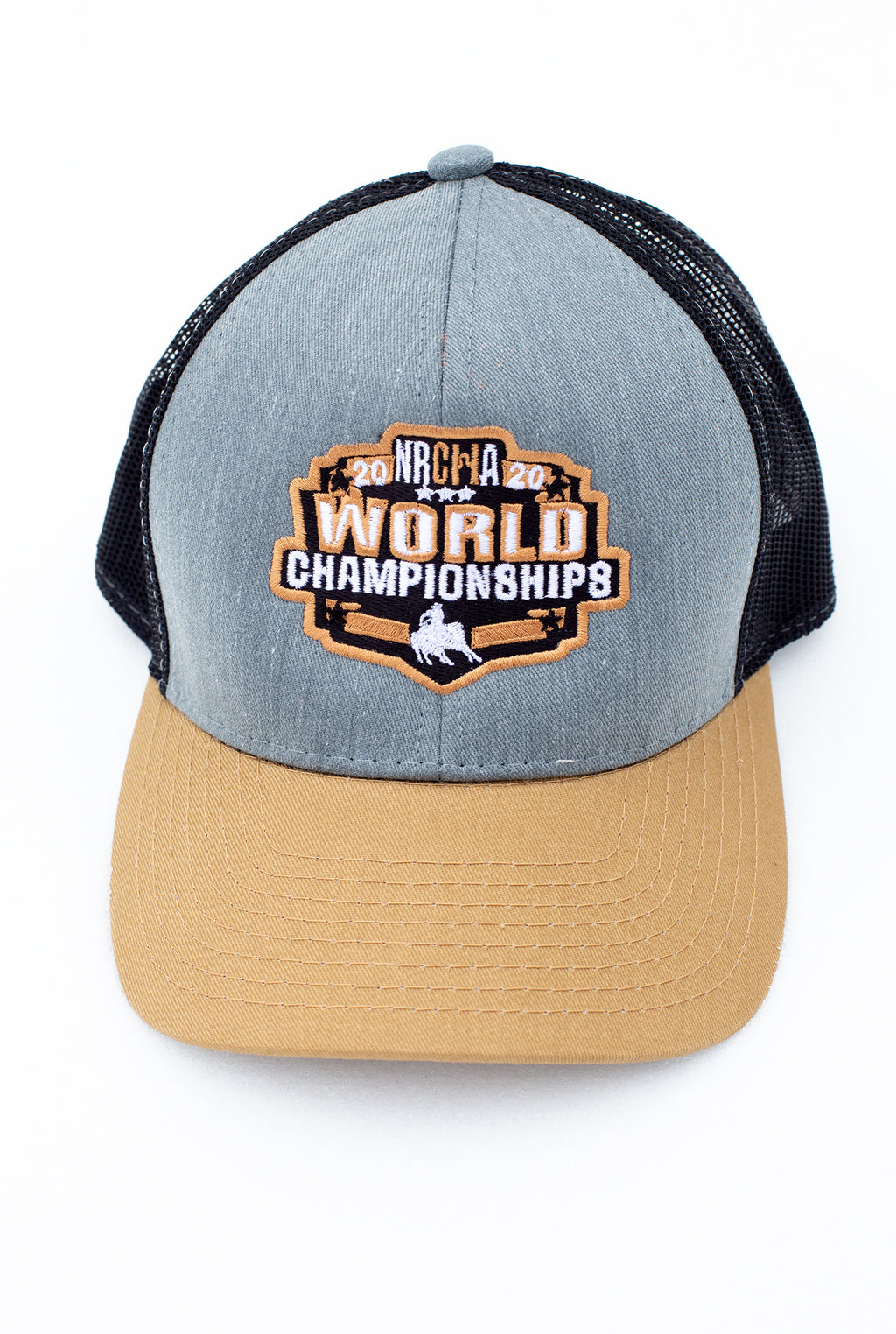 NRCHA World Show 2020 Grey and Gold Mesh Hat