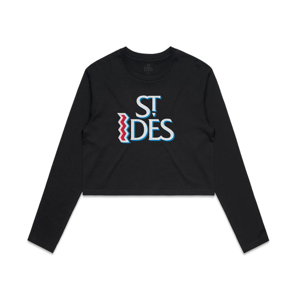 St. Ides Logo Women's Crop Long Sleeve