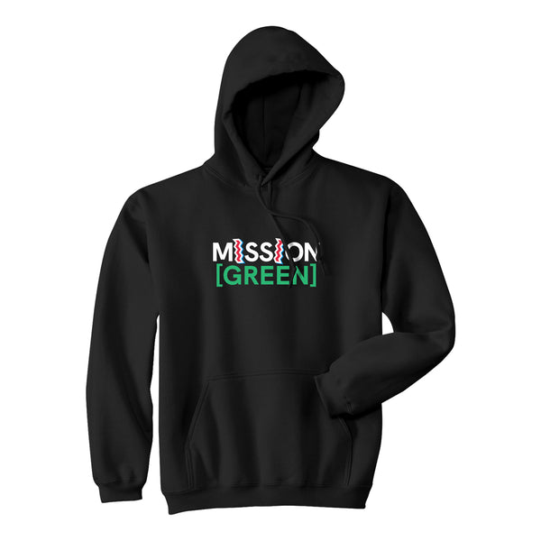 MISSION [GREEN] x ST IDES HOODIE - BLACK