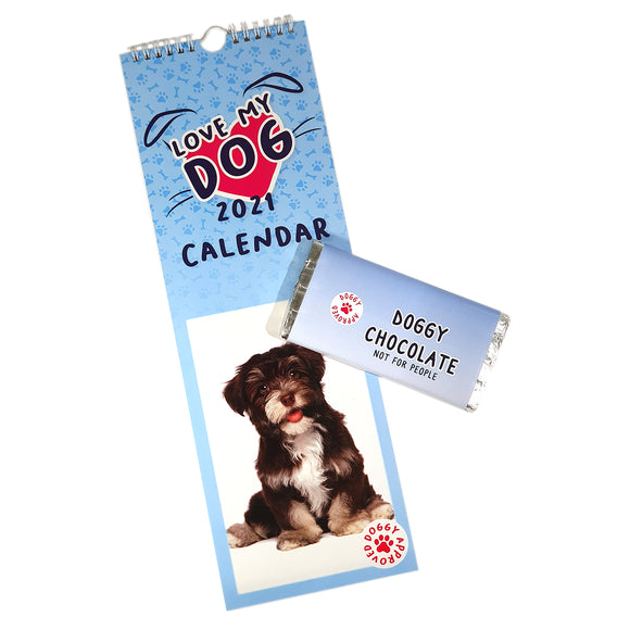 Love My Dog Calendar & Doggy Chocolate Bar