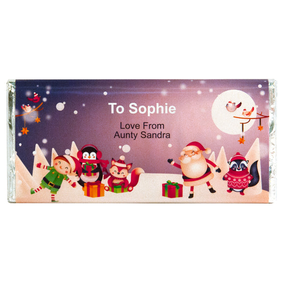 Santa & Pals Message Chocolate Bar