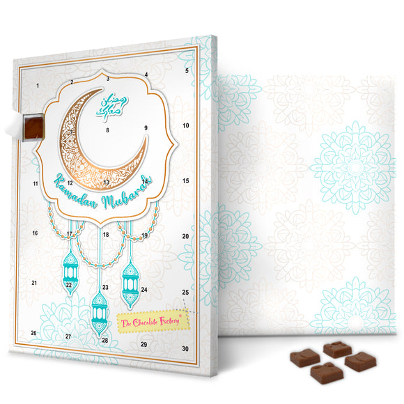 Blue Lantern Ramadan Calendar Milk Chocolate UK
