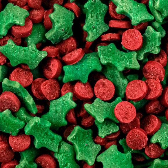 Green Holly & Red Berry Sprinkles